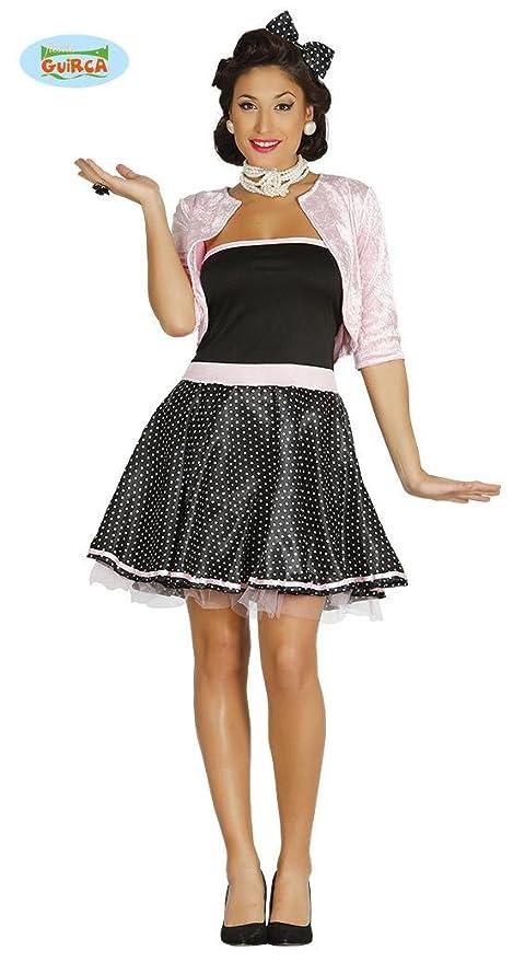 fe22970ed647d Guirca Costume da Pin Up Anni 50 Donna