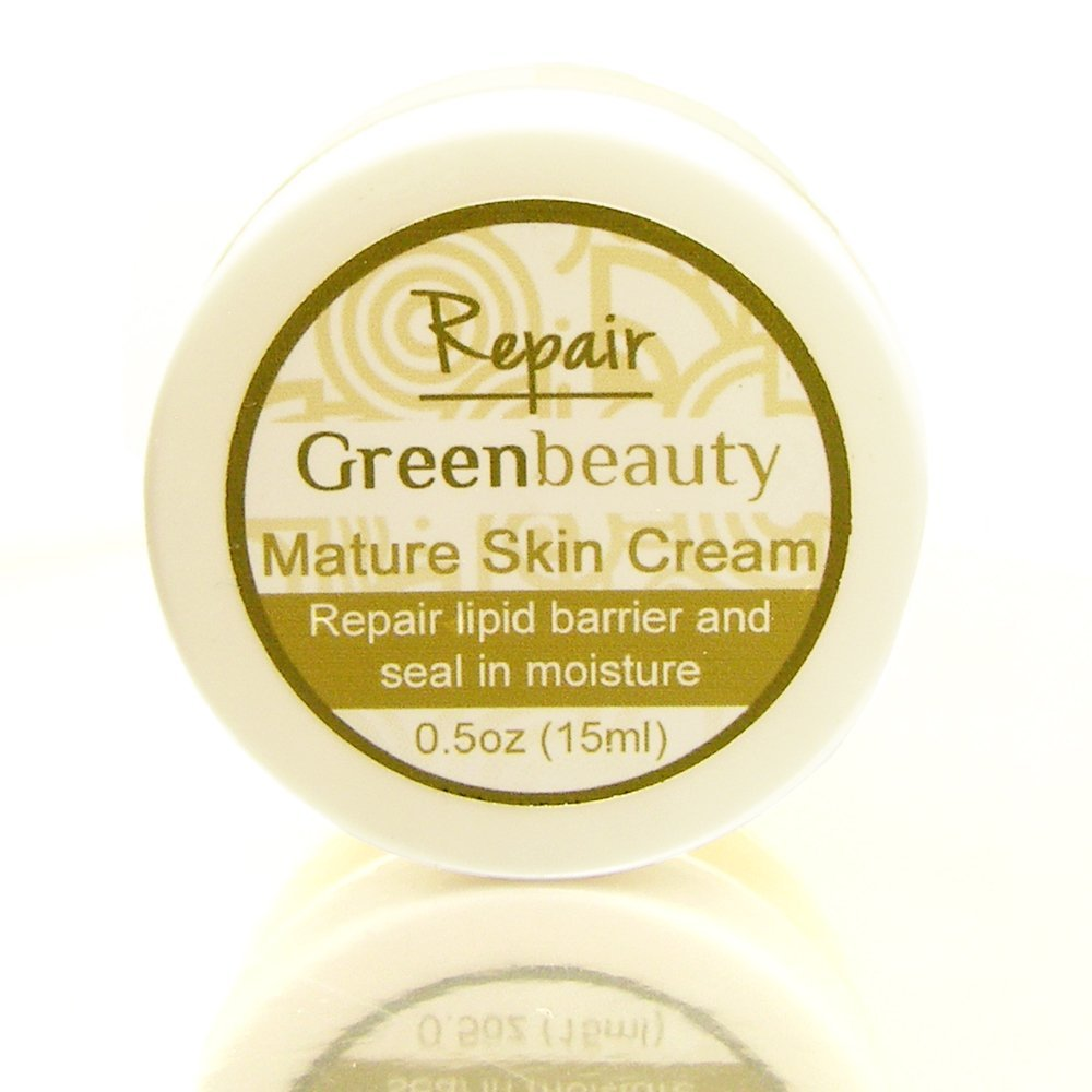 Mature Face Cream for extra dry skin. Use as a makeup primer, or to seal in moisture and give your face a healthy Green Beauty glow. Eco friendly and cruelty free. 1/2oz size.