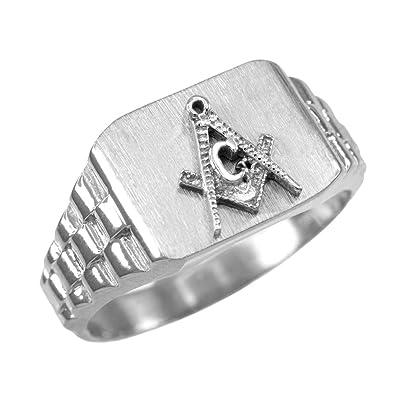 432bdb460 925 Sterling Silver Masonic Ring Men's Freemason Ring Size 6-16 ...