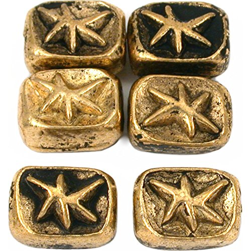 15g Star Rectangle Beads Antq Gold Plated 11mm Approx 6 ()