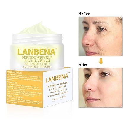 Anti-edad Crema hidratante, Crema Antiarrugas Facial para Día y ...
