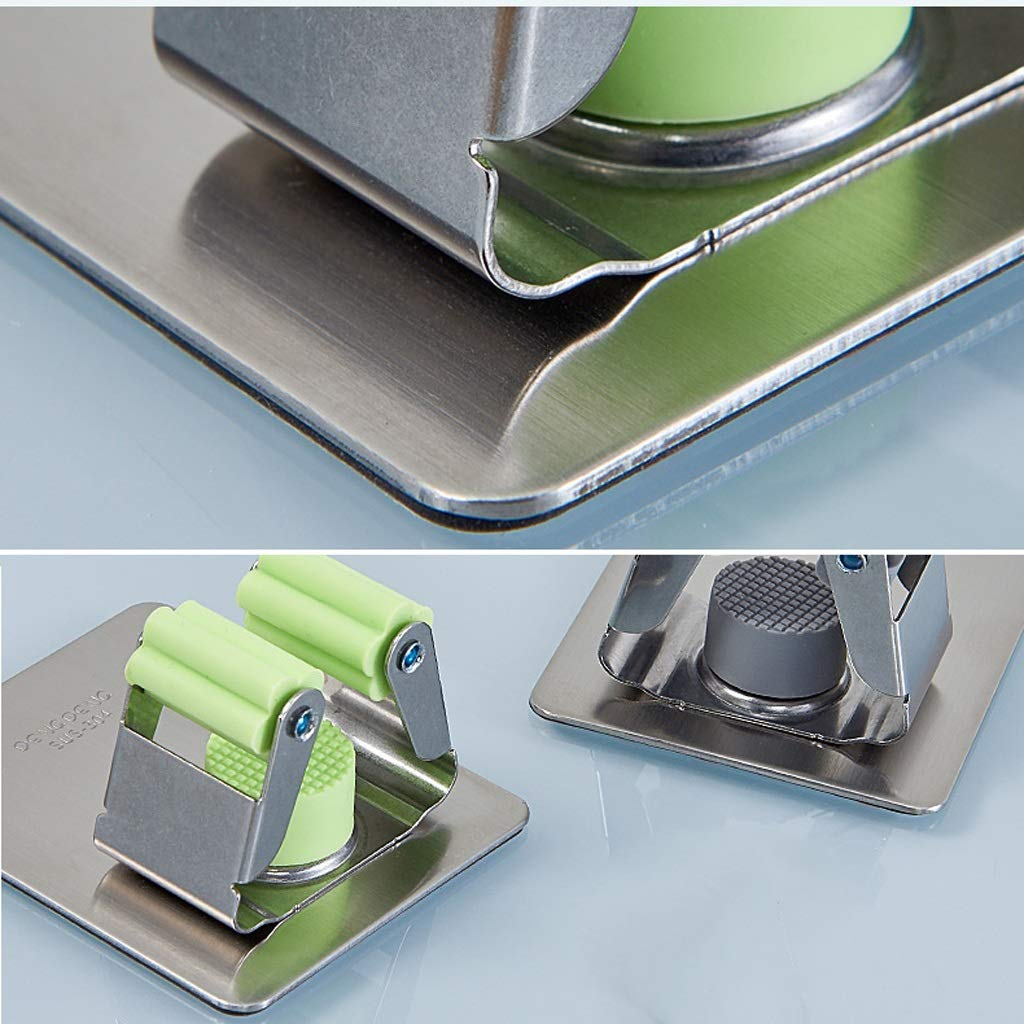 Stainless Steel Mop Hook Punch Free Broom Wall Hanging Mop Storage Card Holder Kitchen Bathroom Strong Hook (Color : Gray, Size : L) by HUACANG (Image #3)