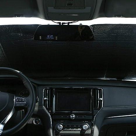 Nattnjf Faltbare Auto Frontscheibe Innen Sonnenschutz Verdicken Laser Anti Uv Hitzebeständige Abdeckung Schutz Auto