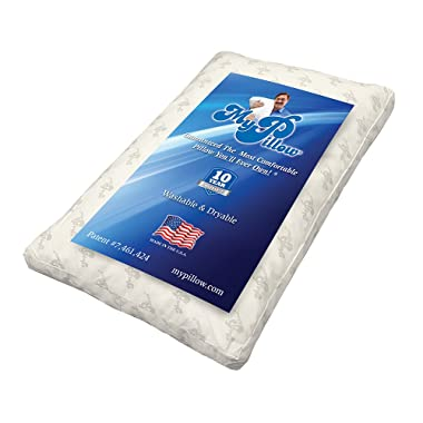 My Pillow Premium Series [King, Extra Firm Fill] Available in 4 Loft Levels | Patented Adjustable Interlocking Fill | Sleep Study Proven
