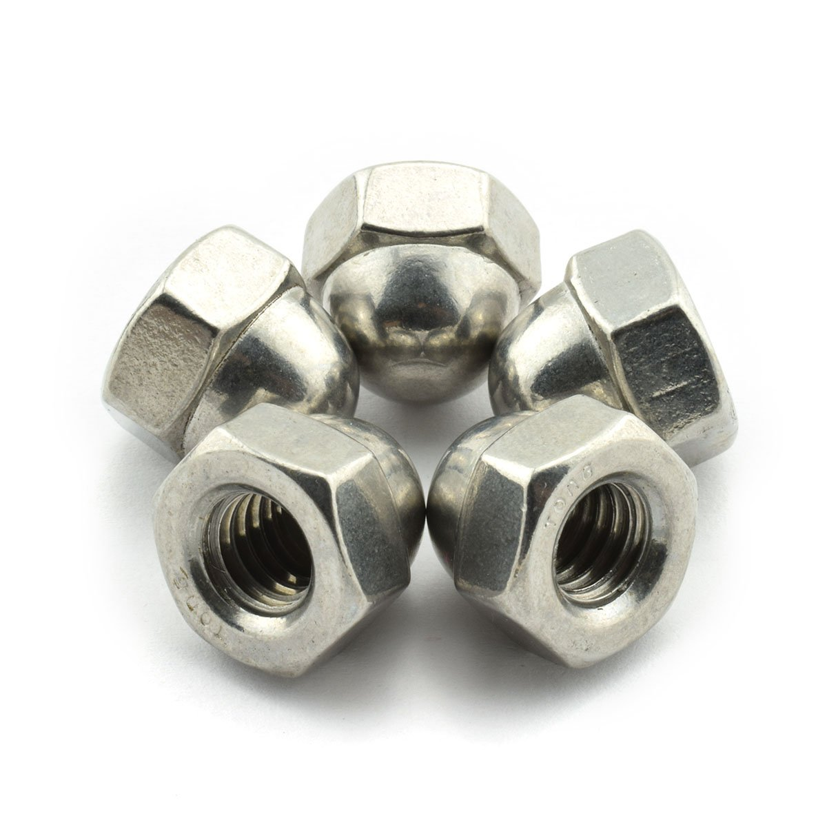 30pcs 5/16-18 Hex Acorn Nuts 304 Stainless Steel Hexagon Decorative Cap Nut Acorn Dome Head Nuts for Screws Bolts