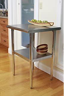 trinity ecostorage nsf stainless steel table 24 inch - Kitchen Prep Table Stainless Steel