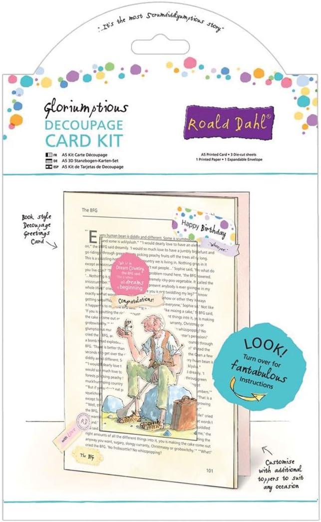 Multi-Colour Roald Dahl A5 The BFG Gloriumptious Decoupage Card Kit