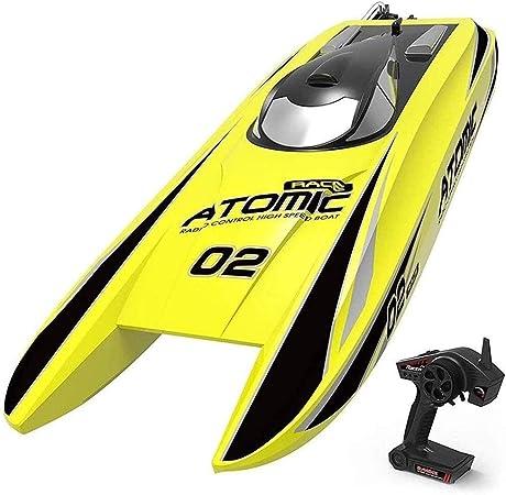 HGYYIO para Piscinas Y Lagos, 2.4Ghz RC Electrico Barco Carreras Juguete 70KM/H Alta Velocidad Barcos Control Remoto 4 Canales Teledirigido Lancha
