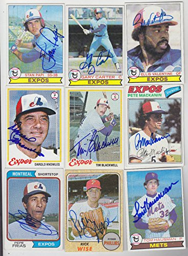 (1977 TOPPS SIGNED CARD PETE MACKANIN EXPOS RANGERS PHILLIES TWINS PIRATES REDS)
