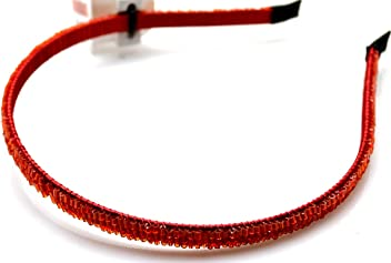 Style & Co. Headband Accessories Metal Red Beaded