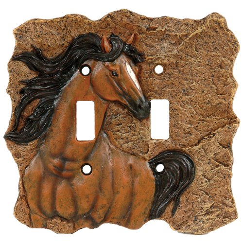 Horse Western Double Switch Cover - Western Decor
