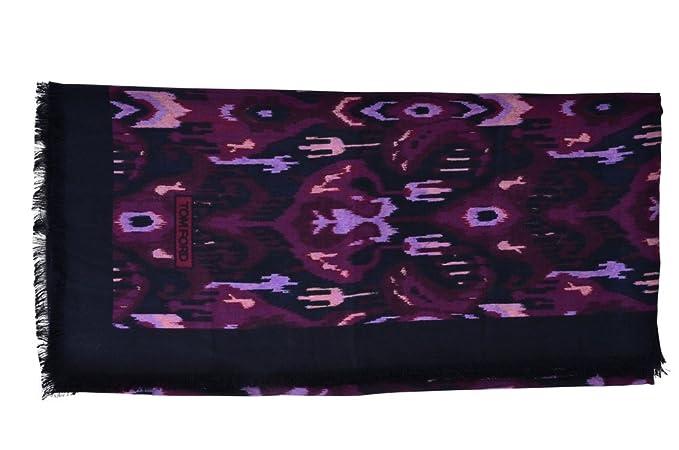 8cc89917faf Tom Ford Écharpe Homme Pourpre Multicolore Cachemire 123 cm x 121 cm   Amazon.fr  Vêtements et accessoires