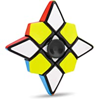 Fidget Spinner Plus 1X3X3 Speed Cube 2 in 1 Stickerless Brain Teasers Magic Puzzle Spinning Top Cube FX7711