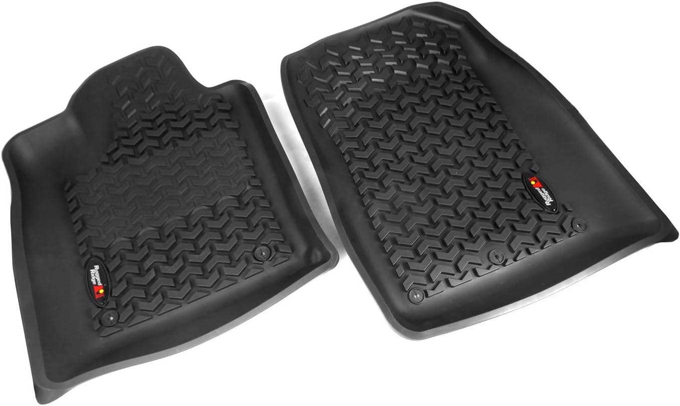 Pair Rugged Ridge 12920.32 Black All-Terrain Front Floor Liner