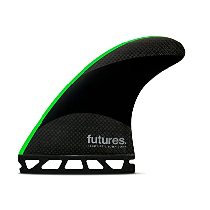 e88f505cb8 Futures Fins - JJ-2 Medium TECHFLEX Thruster - Black/NEON Green