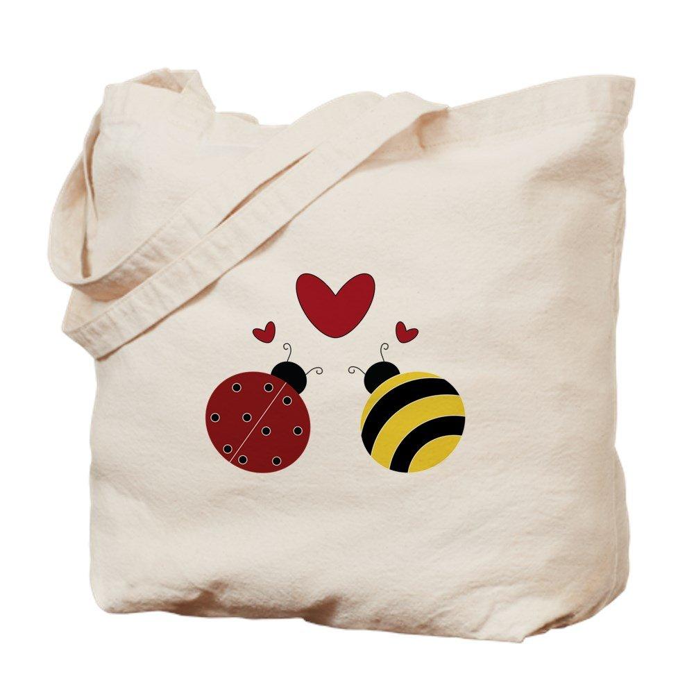 CafePress – When Lady Met Bumble。。。 – ナチュラルキャンバストートバッグ、布ショッピングバッグ M ベージュ 07925968246893C B073QT32LC MM