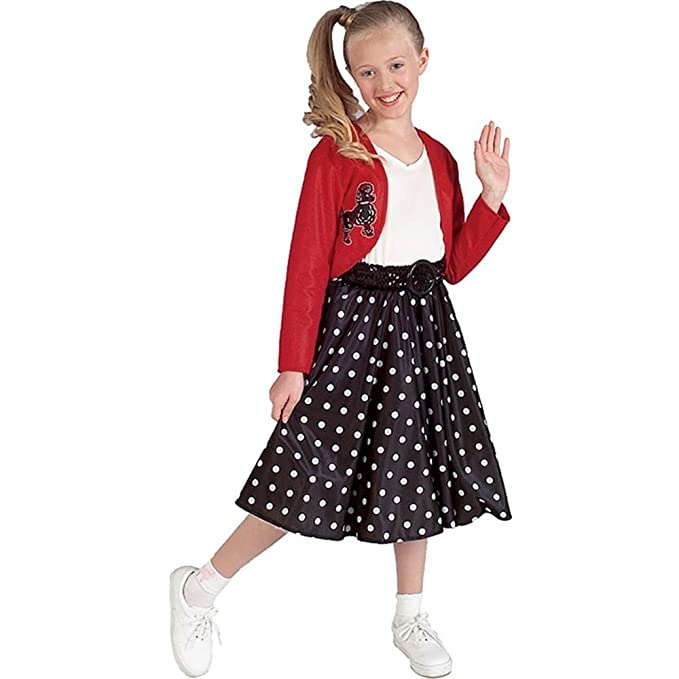 Vintage Style Children's Clothing: Girls, Boys, Baby, Toddler Child 50s Polka Dot Rocker Costume $21.23 AT vintagedancer.com