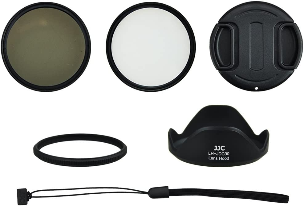 Filter Lens Hood and Lens Cap including 58/mm Adapter Accessory Starter Kit for Canon PowerShot SX60/HS