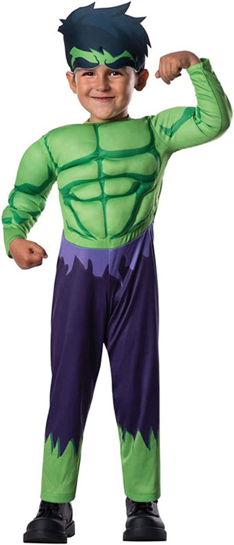 Boys Incredible Hulk Costume Marvel Avengers Superhero Child Fancy Dress Outfit