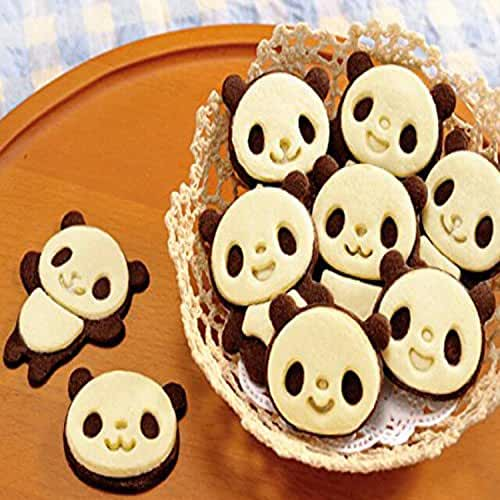 Witkey Lovely Panda Cookies Mold Suit Chocolate Cakes Creative DIY Baking Tools Bakeware Tool Candy and Gummy Mold