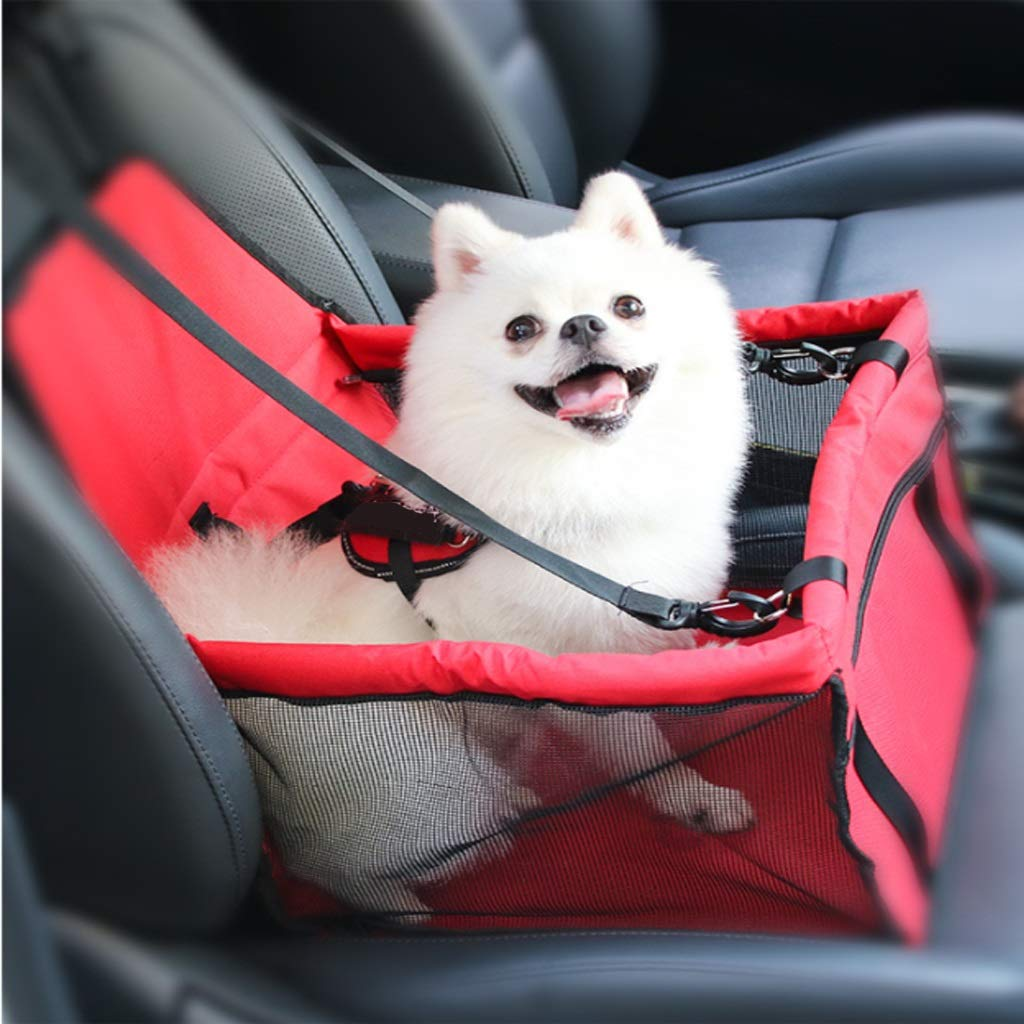Red Gfbyq Pet Car Nest, Dog Car Seat Pet Pad Dog Seat Car Pet Pad Anti-dirty Pad Can Be Used for Car (color   RED)