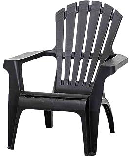Gartenstühle kunststoff grün  Amazon.de: Adirondack Chair Stapelstuhl Gartenstuhl Kunststoff - Grün