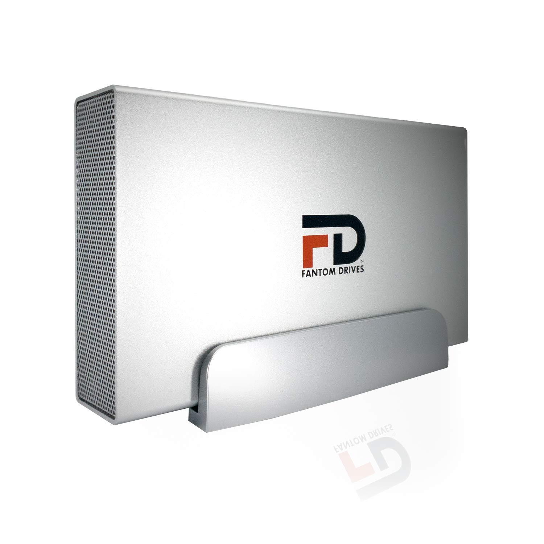 Fantom Drives 6TB 7200RPM External Hard Drive - USB 3.0/3.1 Gen 1 & eSATA Silver Aluminum - GFORCE 3 Pro Series - Mac, Windows, PS4, and Xbox