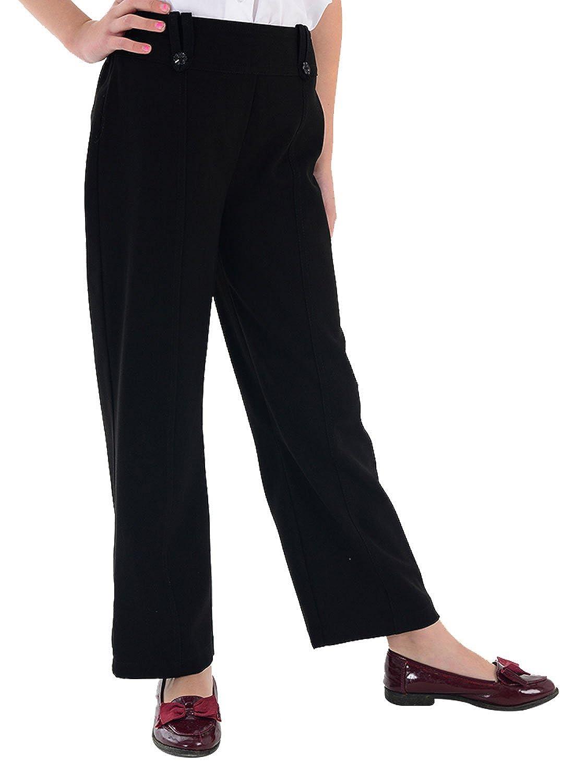 adam & eesa Girls High Waist School Pants Athletic Trouser