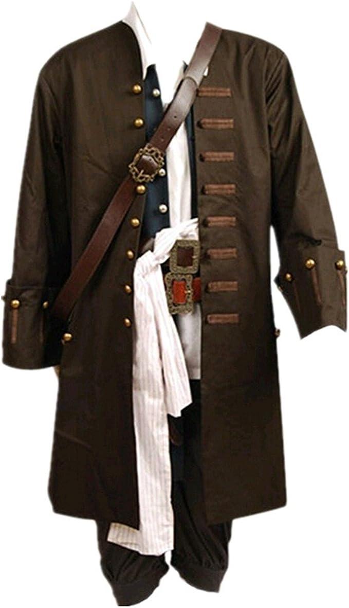 Disfraz de Jack Sparrow de Pirates Of The Caribbean, chaqueta ...