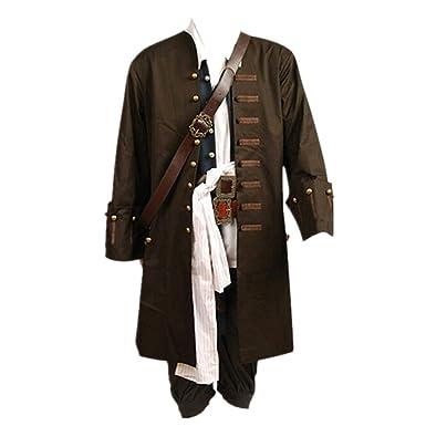 Costume Pirates des Cara iuml bes Jack Sparrow - veste, gilet, ceinture,  chemise 9b27c90143a