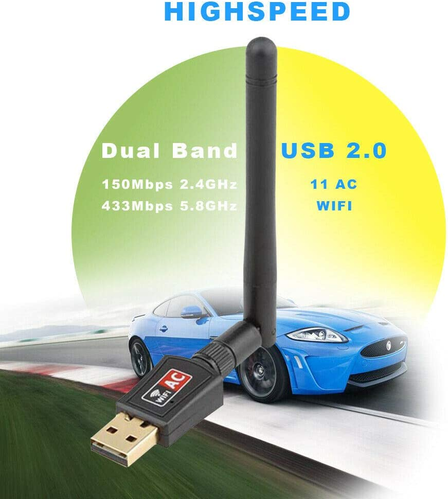 600Mbps Wireless USB WiFi Network Adapter
