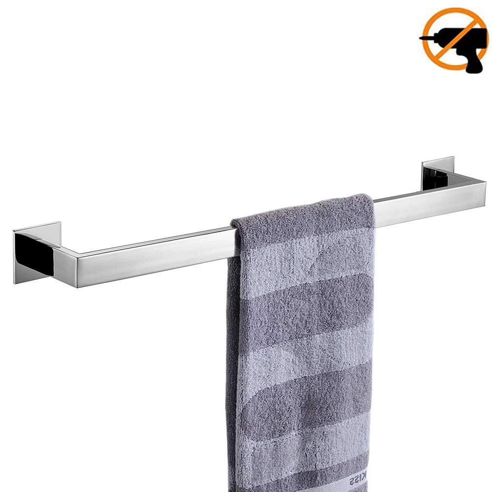 Porta Asciugamani Wellsum Porta Carta igienica Moderna da Parete 3M Adesiva 3 Pezzi Senza Foratura Gancio per Asciugamani