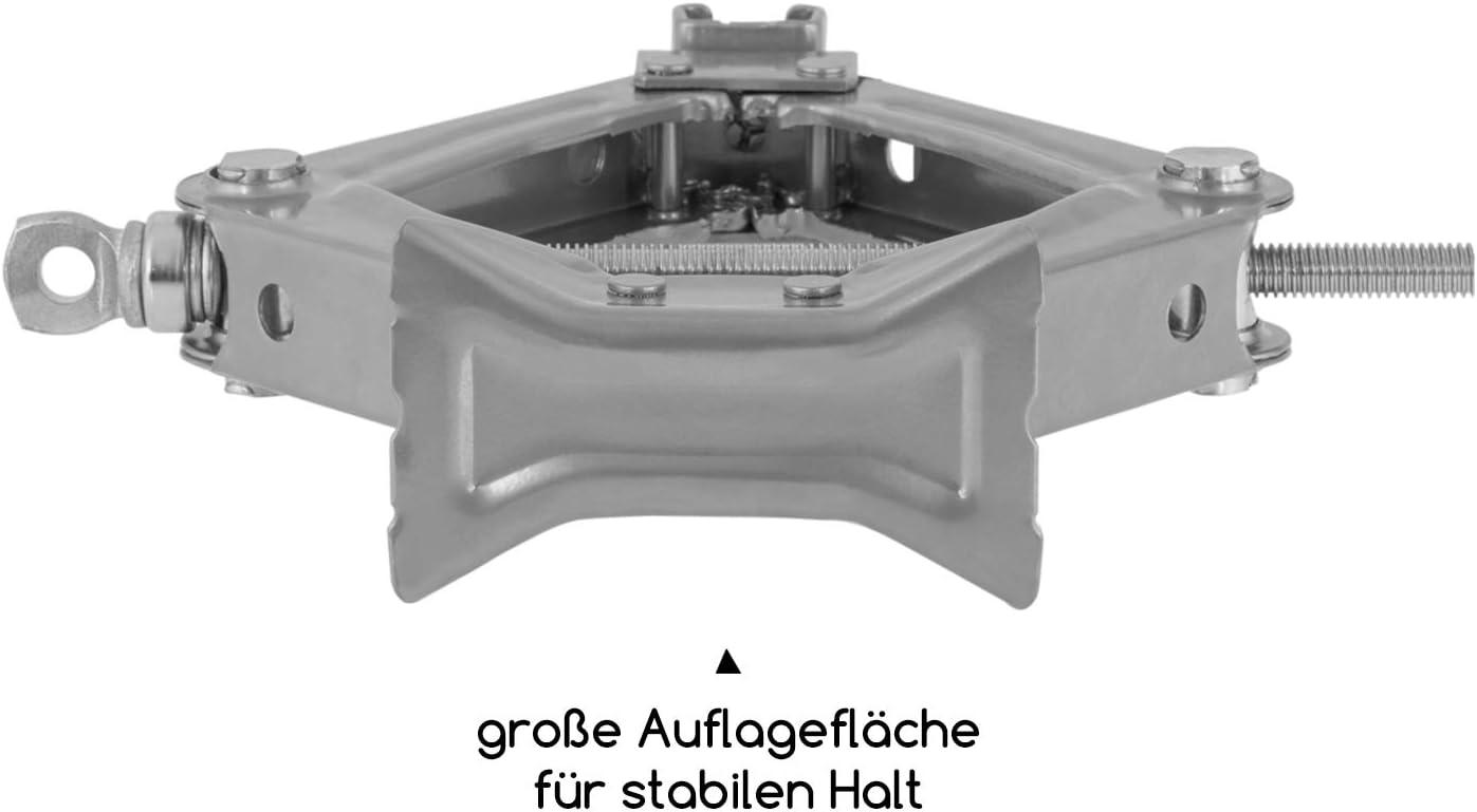 alca Scherenwagenheber Wagenheber Reifenwechsel 0,8 Tonnen 800 Kilogramm