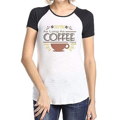 Kelloggd Violaad Coffee   Crafting Shirt Casual Comfortable T-Shirts  Women s Print Tee Shirts with b46d84bd3