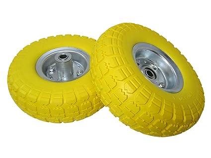 "2x10"" Clavos seguridad protección goma maciza carretilla de carga carro ruedas neumáticos rm027"
