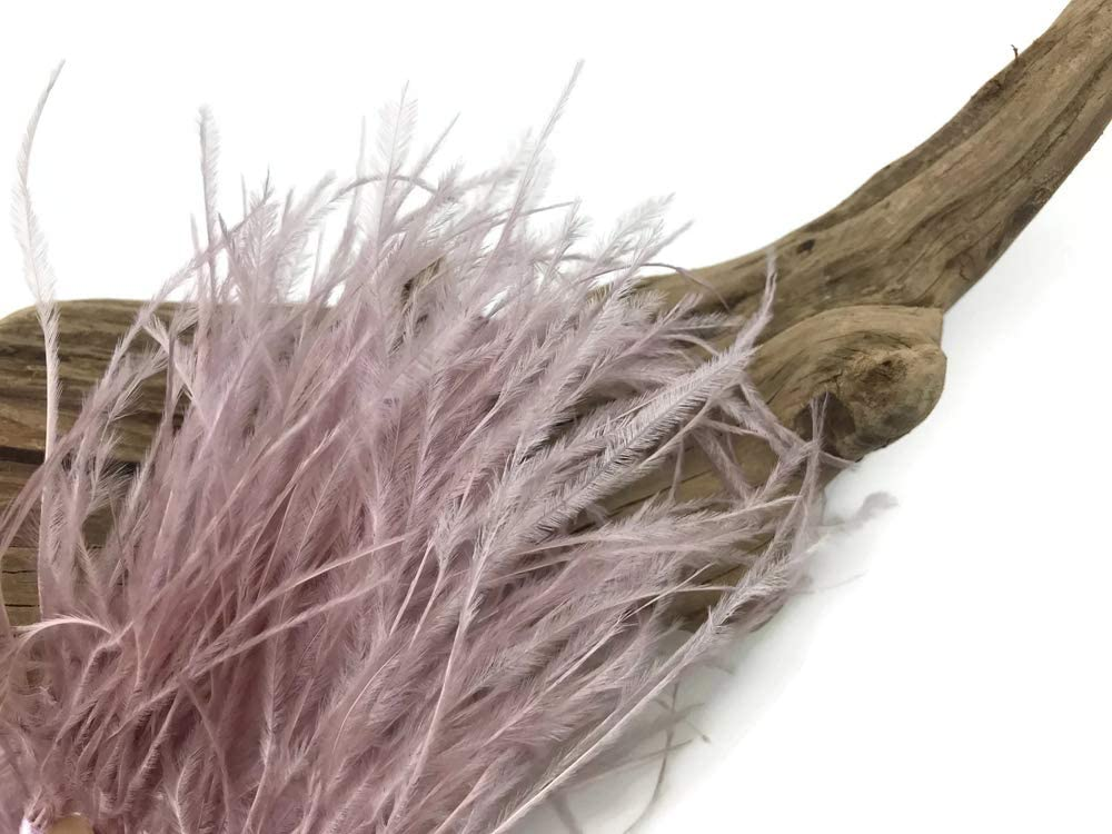 Brown Ostrich Fringe Trim Millinery Carnival Feathers Halloween 6 Inch Strip