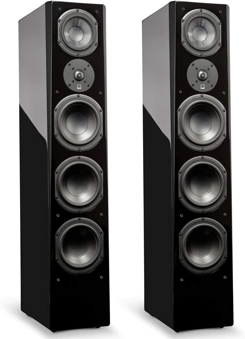 SVS Prime Pinnacle 3-Way Tower Speaker Pair – Piano Gloss Black