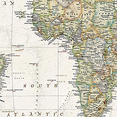 Mapa mural del mundo executive gigante 3 partes 295x193 cm. Inglés ...