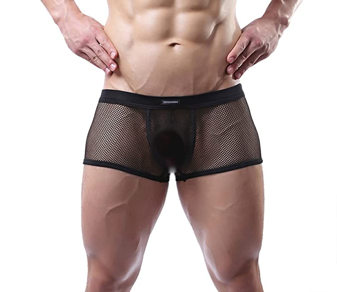 Mens sexy see through underwear