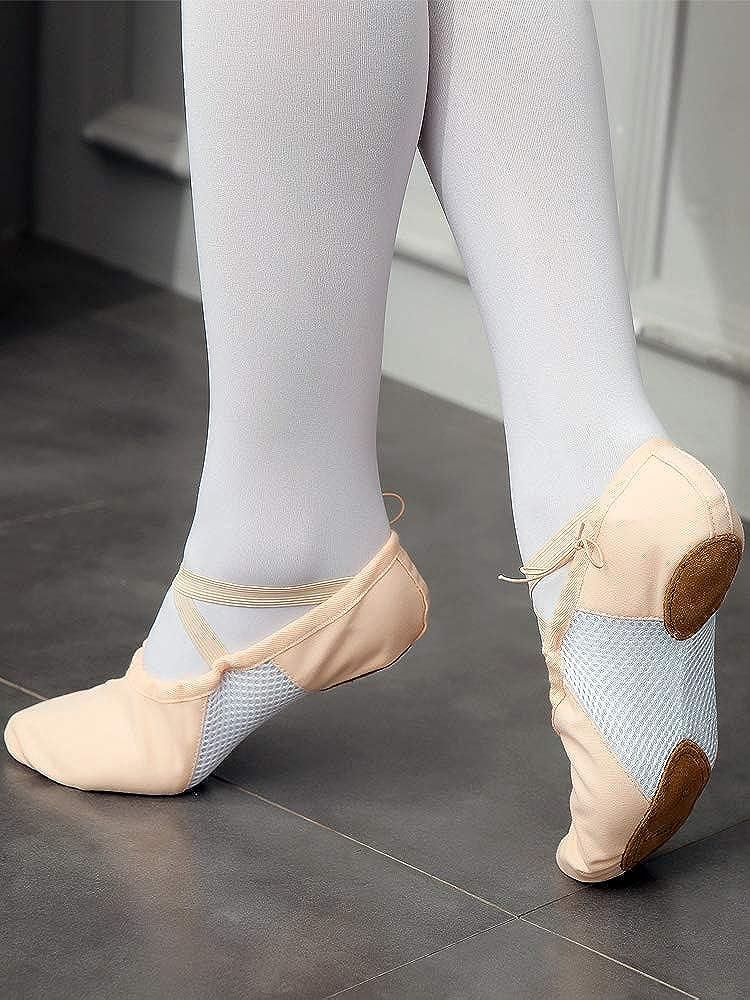 s.lemon Double Couche Toile Chaussons de Ballet Chaussures de Danse pour Filles Enfants Femmes Hommes