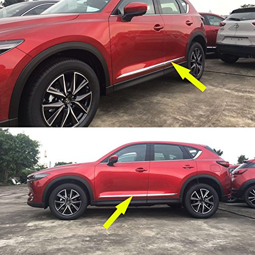 Beautost Fit for Mazda 2017 2018 2019 CX-5 CX5 Chrome Body Side Door Moulding Trim Overlay Cover Trims