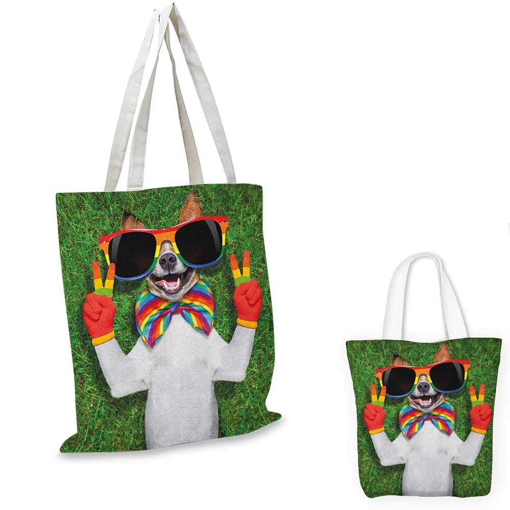 16x18-13 Pride canvas messenger bag Love Valentines Wins Celebration with Tie Dye and Rainbow Colors Happiness Vintage canvas beach bag Multicolor