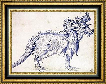 Amazon.com: Sketch for a Cerberus by Giuseppe Arcimboldo - 17\