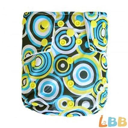 LBB (TM) bebé pañales de tela reutilizable lavable pañales de bolsillo con ajustable Snaps