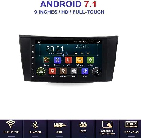Android 7.1 allwinner T3 GPS USB Wifi DAB + mirrorlink Bluetooth Radio de coche navegador Mercedes Clase y W211/Mercedes Clase G w463/Mercedes Clase CLK w209/Color Negro/E200/E220/E240/E270/e280/E300: Amazon.es: Electrónica