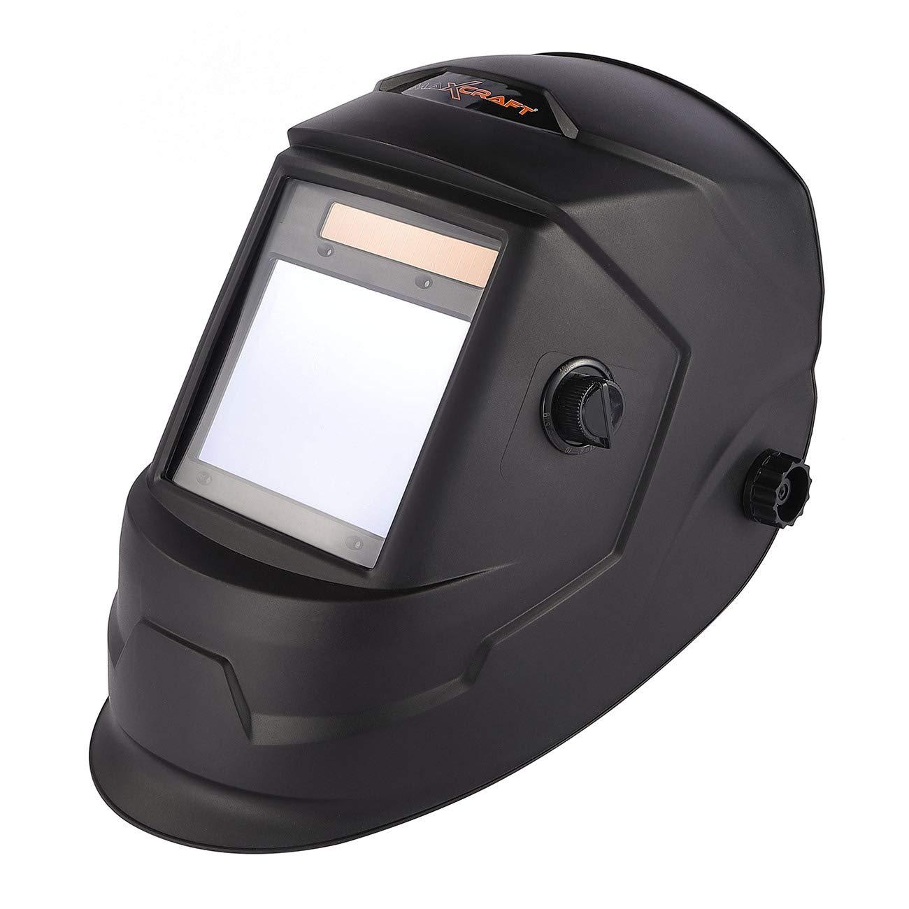 MAXCRAFT Casque de Soudage Masque avec Assombrissement Automatique Solaire DIN 4/5-9/9-13 Soudure - 4 Capteurs
