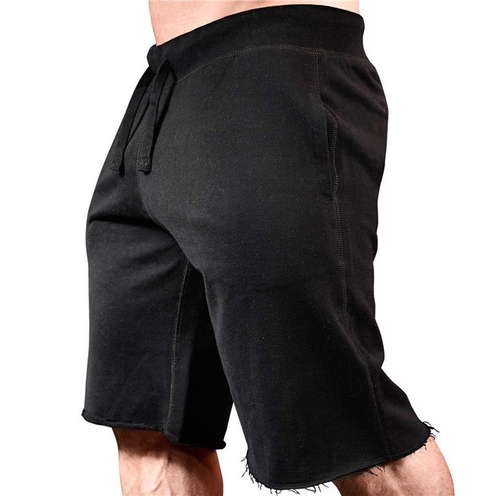 6e0ab77241469f Caopixx Men Casual Loose Beach Work Casual Sports Jogging Elasticated Waist  Shorts Trouser Pants at Amazon Men's Clothing store: