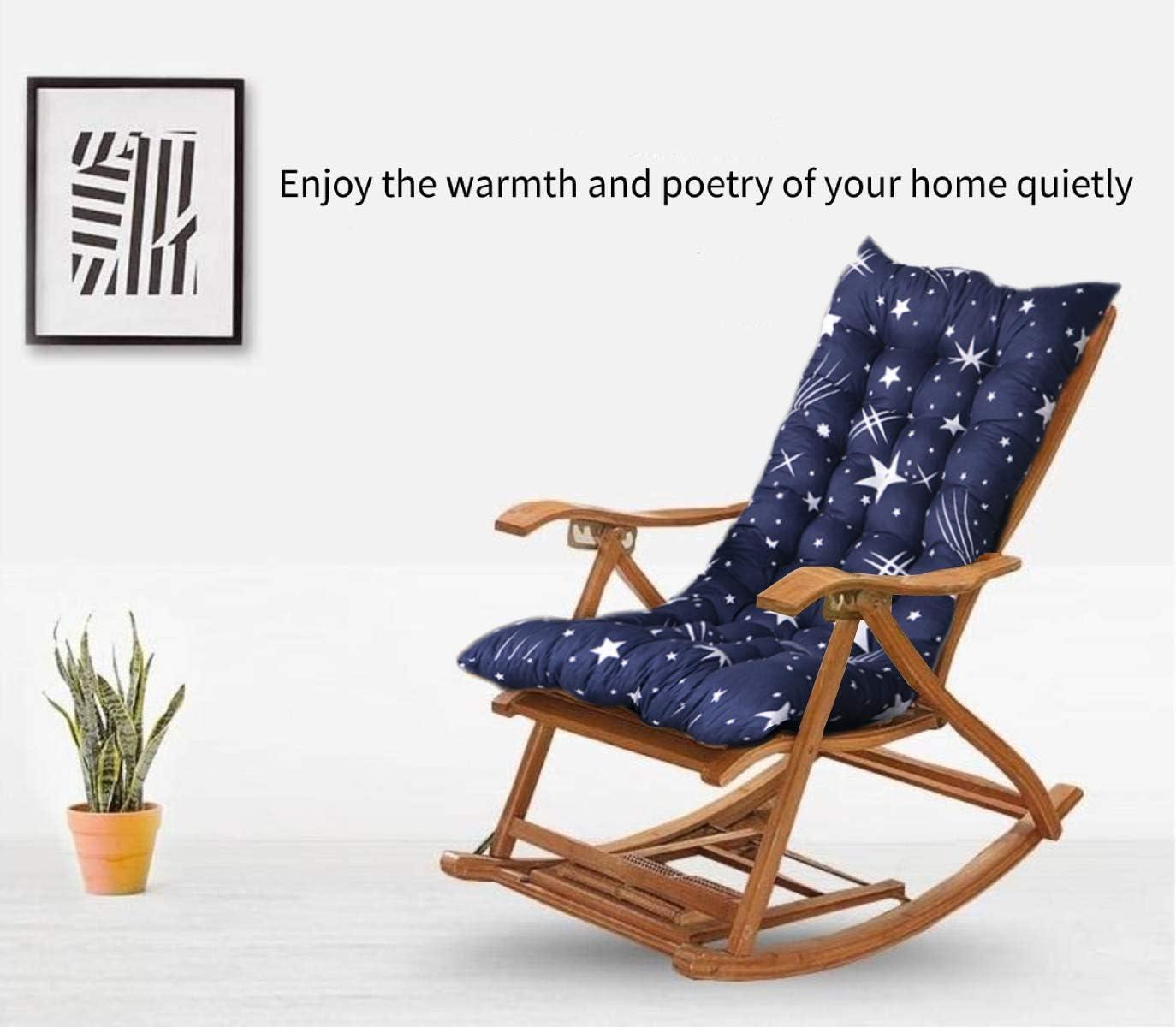 FF Era Non-Slip Rocking Chair Cushion, Sun Lounger Cushion high-Backed Cushion, Thick Extra Large Relaxer Thick seat Cushion Deck Chair Cushion Rocking Chair seat Cushion Garden Cushion Stars