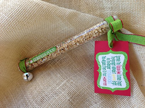 Reindeer Food - A Fun Christmas Tradition, Stocking Stuffer, & Gift Idea - Pre-Packaged Tube of Magic Reindeer Food ()