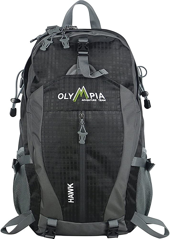 Olympia USA Hawk 20 H Outdoor Daypack with Adjustable Shoulder Strap 32L – Black